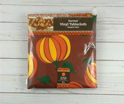 Vinyl Tablecloth 60 Round Halloween Fall - Halloween Tablecloth Round