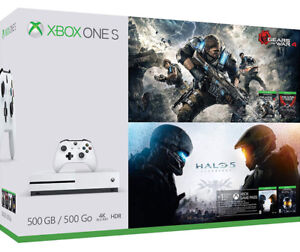 XBOX ONE S Gears of War 4 and Halo 5 Bundle