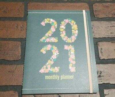 2021 Monthly Planner Calendar 7 12 X 9 34 With Pocket And Elastic Closure
