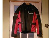 Motor bike Jacket xl & gloves
