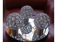 Elegant Crystal Bauble Ceiling Light with LED bulbs