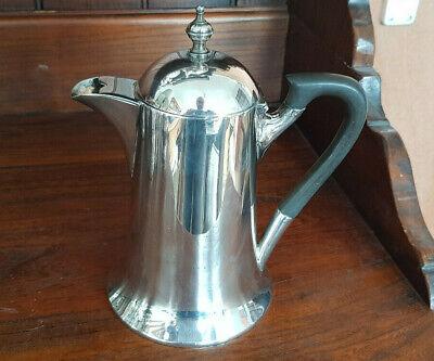 silverplated metal Danish vintage coffeepot