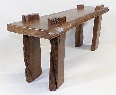Adirondack Lodge Inspired Walnut Live Edge Slab Coffee Table Unique one of Kind (Adirondack Rectangular Table)