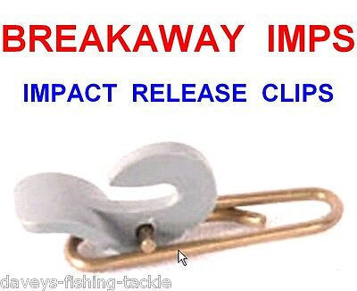 10 BREAKAWAY IMPS IMP IMPACT BAIT CLIP RIG LINE LINKS RELEASE FOR LEADS WEIGHTS