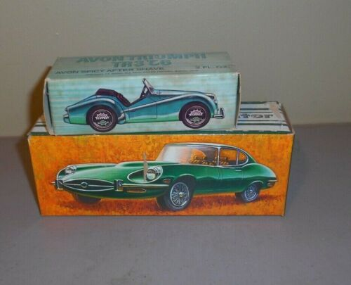 Vintage Sporty Car Avon Decanters Jaguar & Triumph TR3
