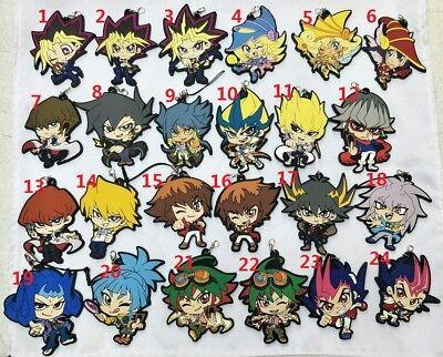 Yu-Gi-Oh! YuGiOh YGO Yu Gi oh Anime Figure Rubber Strap Charm Keychain Key Ring