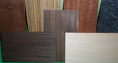 Random Lot Of 50-65 Pc.mixed Wood Veneer 5x8 Exotic Common