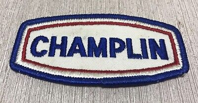 VTG CHAMPLIN OIL Gas GASOLINE STATION Patch Embroidered Cloth Red White Blue