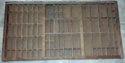 Unfinished Printer's Drawer 1970 32 x 16 x 1 3/8 inches.