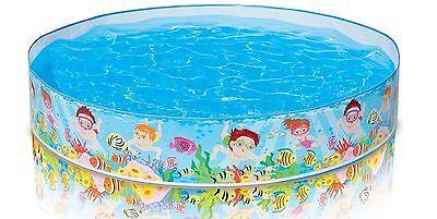 INTEX Beach Days Snapset Instant Swimming Pool  Kids Fun Play Outdoor 5'X10