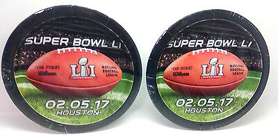Super Bowl LI Paper Snack Plates Lot of 2 Pkgs of 8 NEW 7