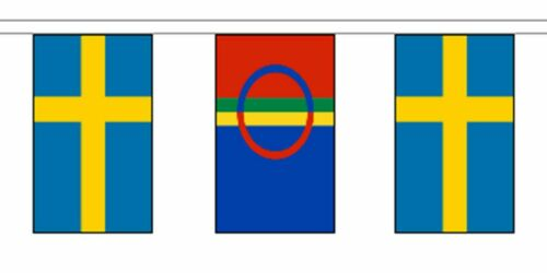 Sweden Friendship Flag Polyester Bunting - Premium Quality