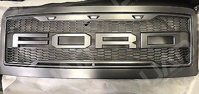 2008-2010 Ford F250 F350 Super Duty Raptor-Style Packaged Grille W/FORD Letters