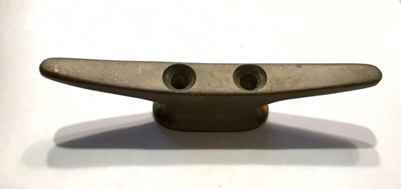 """VINTAGE BRONZE BRASS BOAT SAILBOAT CLEAT 5"""", SOLID BRASS CLEAT PERKO"""