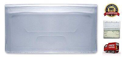 Clear Vinyl Checkbook Cover Duplicate Checks Plastic Divider Checkbook Holder