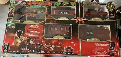 Eztec North Pole Express 33 Piece Christmas Train Set Open Box New