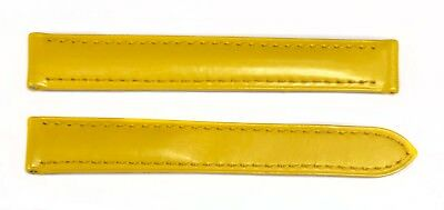 Authentic Cartier Veau Verni Trinity Glittery Yellow Leather Watch Band 6ALCEY32