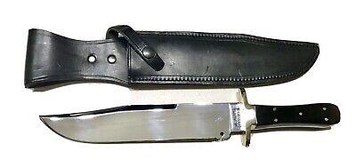 "Vintage Antique England Adams Sheffield Large Bowie Dagger Knife Sheath Mint 15"""