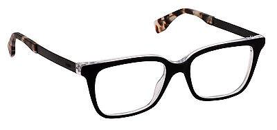 Fendi FF 0077 DUO Eyeglasses Black Pearl Crystal Frame Italy New Autentic