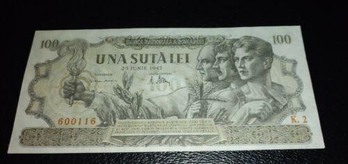 Romania  banknotes 100 lei 25 iunie 1947