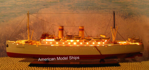 "SS STAVANGERFJORD WITH LIGHTS 40"" - Handcrafted Wooden Model NEW"