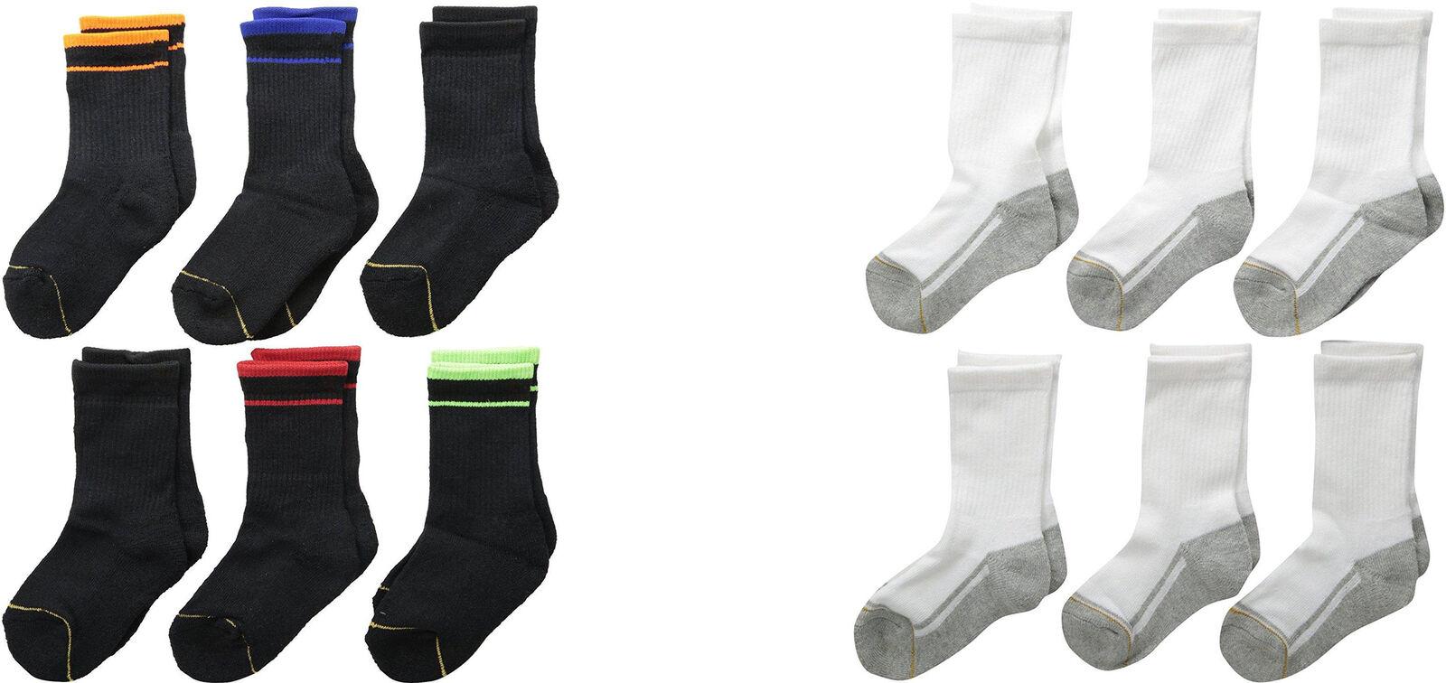 Gold Toe Big Boys' Athletic Crew Socks, Assorted Colors, 6 P