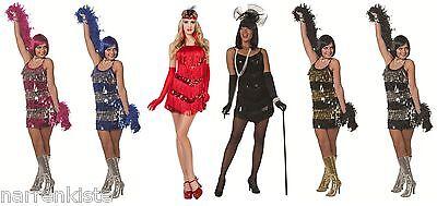 30er Jahre Kostüm (20er 30er Jahre Kleid Kostüm Flapper Charleston Charlestonkostüm Damen Fransen)