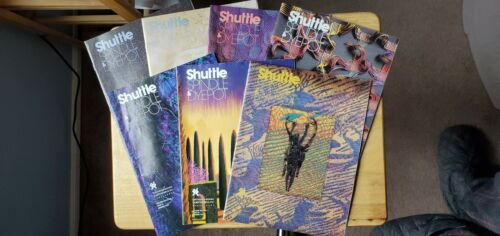 Lot of 7 Spindle Shuttle and Dyepot magazines from 1990s Handweavers Guild USA