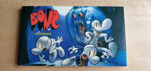Bone Bar Flip Book Autographed by Jeff Smith Cartoon Books