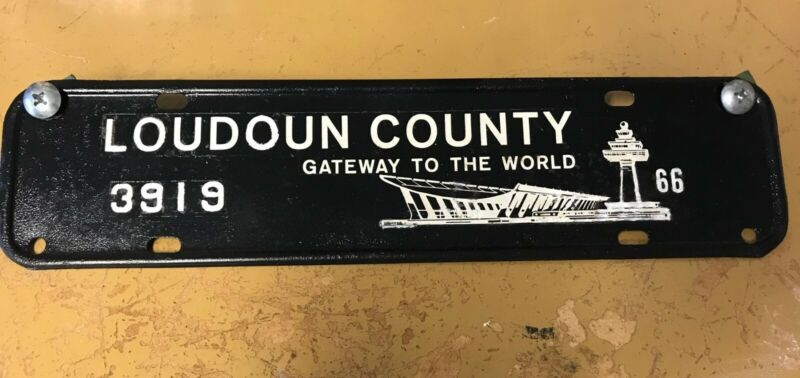 1966 Loudoun County Virginia license plate topper With Dulles Airport image