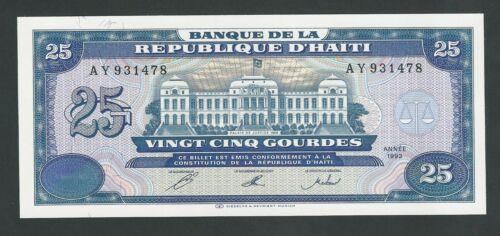 HAITI  25 GOURDES 1993  P- 262  UNC