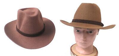 Cowboyhut Westernhut Wollhut Unisex beige und braun Herrenhüte Mützen  Hüte Und Mützen
