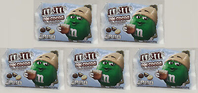 5 Bags m&m's HOT COCOA Milk & White Chocolate Candy Marshmallow Flavor 8 oz