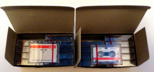 20 - LANIER MC-60 MICROCASSETTE TAPES - 2 BOX LOTS OF 10 - NEW / UNUSED / SEALED