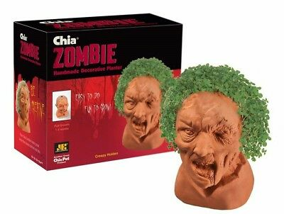 Holden Zombie Chia Pet Decor Pottery Planter Home Garden Halloween Walking Dead  - Chia Pet Halloween