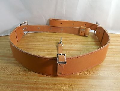 Cinch Natural - Amish made WESTERN HORSE Genuine Leather Back Cinch Rear Girth Natural LIGHT OIL