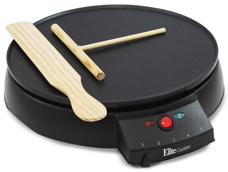 Elite Cuisine ECP-126 Electric Crepe Maker and Non-stick Gri