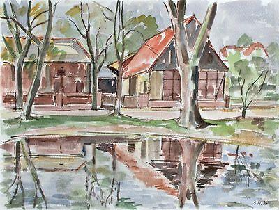 Sonja Wüsten - Glienicke - Aquarell - 1995