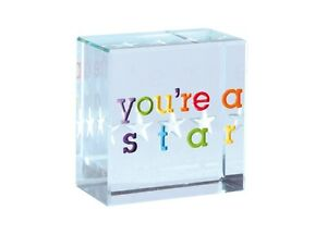 Spaceform-Glass-Text-Token-Youre-A-Star-Colourful-Thank-You-Gift-Present-1680