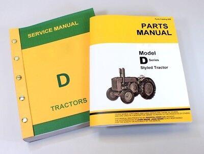 Service Manual Set For John Deere D Styled Tractor Parts Repair Shop Catalog