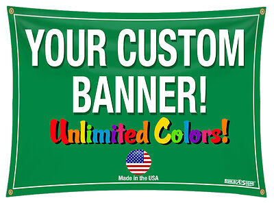 4'x 10' Color Custom Banner High Quality Vinyl 4x10