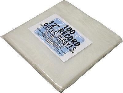 "(100) 12SE04 12"" 4mil THICK PREMIUM Record Sleeves LP Bags Covers Vinyl Storage"
