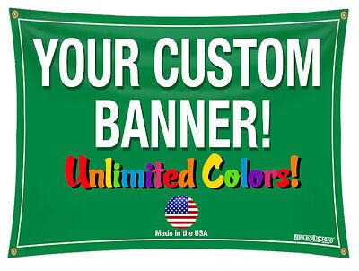 3x8 Full Color Custom Banner 13oz Vinyl DOUBLE SIDED