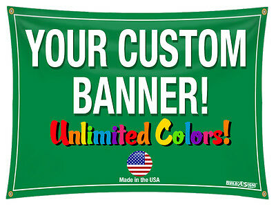 3x 8 Full Color Custom Banner High Quality Vinyl 3x8