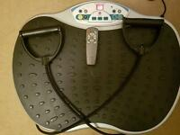 Power/vibration plate with cords and remote control