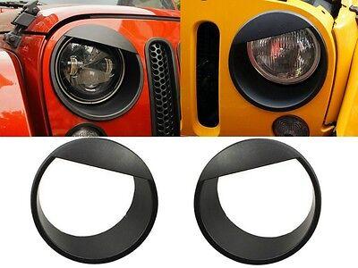Angry Bird Headlight Bezels For 2007-2017 Jeep Wrangler JK New Free Shipping USA