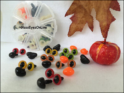 Safety Eyes and Noses Assortment Gift Set Fall Halloween Crochet Sewing Projects (Halloween Eye Safety)