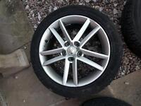 "17"" alloy wheels seat leon 112x5"