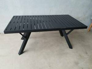 Morocco Coffee Table in Black Aluminium Frame Loganholme Logan Area Preview