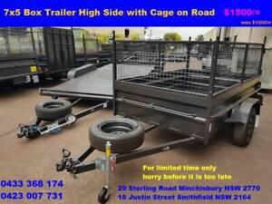 7x5 box Trailer Heavy Duty on Road Price $1550/=